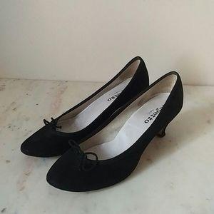 REPETTO - black suede Gisele kitten heels